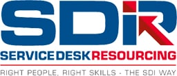 SDR Service Desk Resourcing Institute Logo Right People Right Skills The SDI Way
