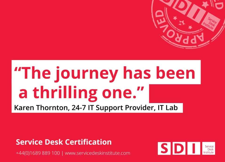 Service Desk Certification Brochure Service Improvement