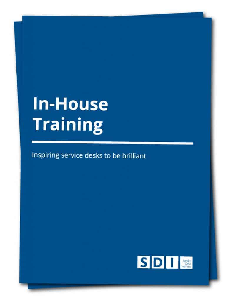 In-House Training Brochure Cover