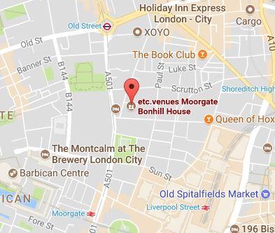 etc venues london map