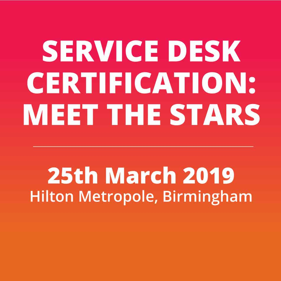 Service Desk Certification Service Desk Institute
